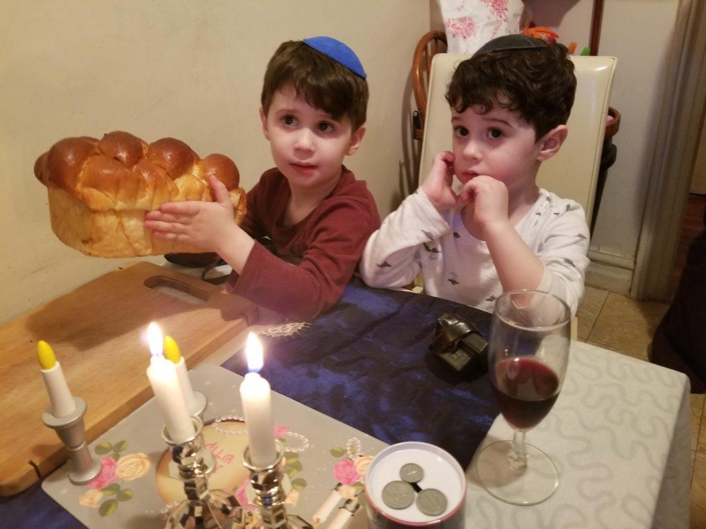 Anna's nephews at Shabbat