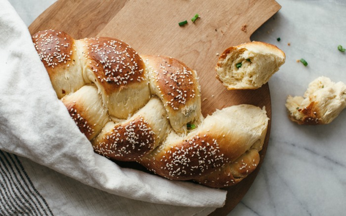 Scallion challah bread by Molly Yeh