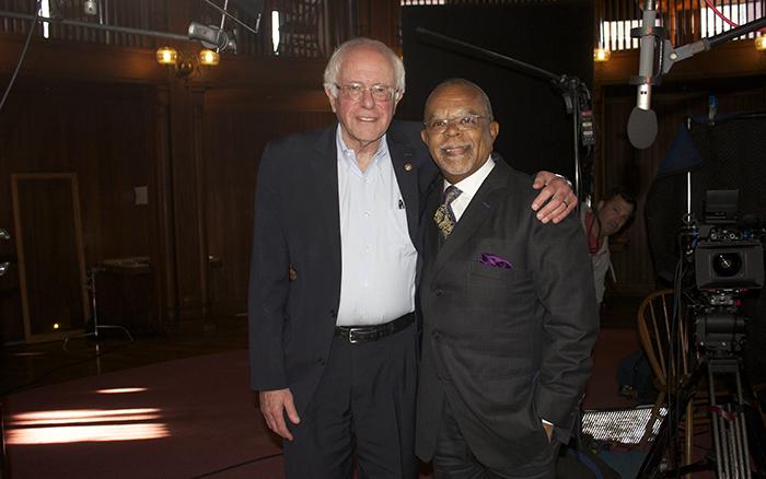 Bernie Sanders and Henry Louis Gates, Jr.