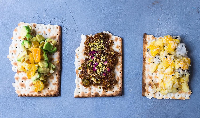 charoset on matzah
