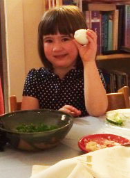Emily's daughter at Passover