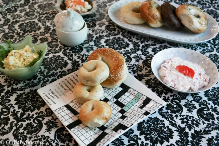 Bagels and schmear for Shavuot