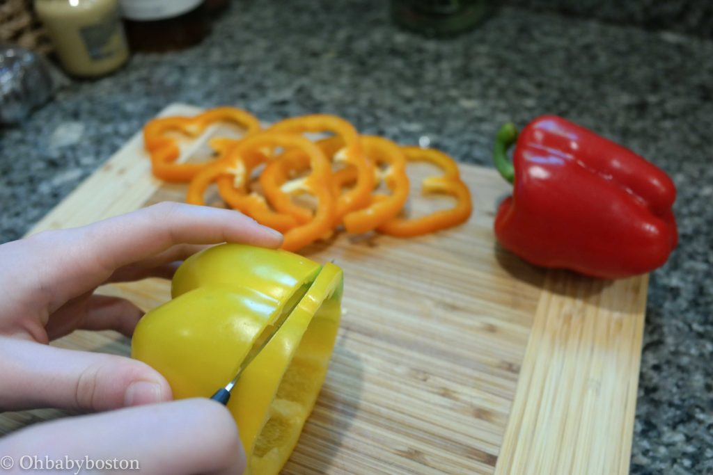 Cut your peppers