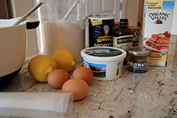 Ingredients for ricotta pancakes