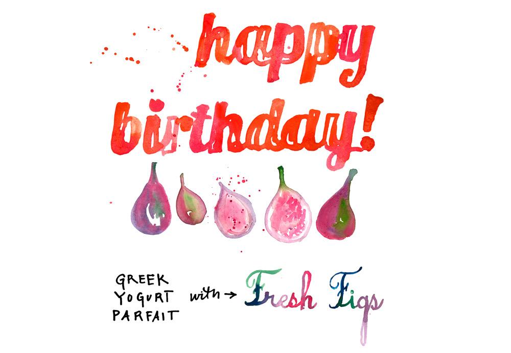 Happy birthday parfait