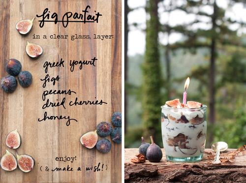 Fig parfait ingredients