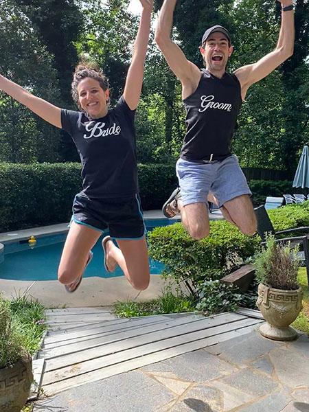 Jenna Elliot jumping