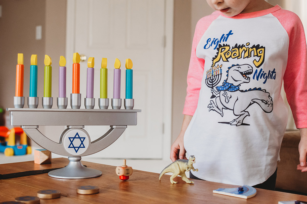 Toy menorah