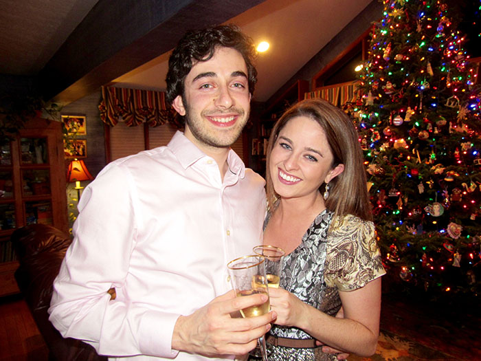 Alexandra & Paul at a family holiday party shortly after they got engaged
