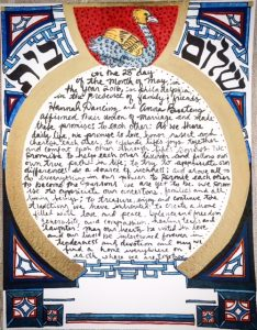 Our DIY ketubah