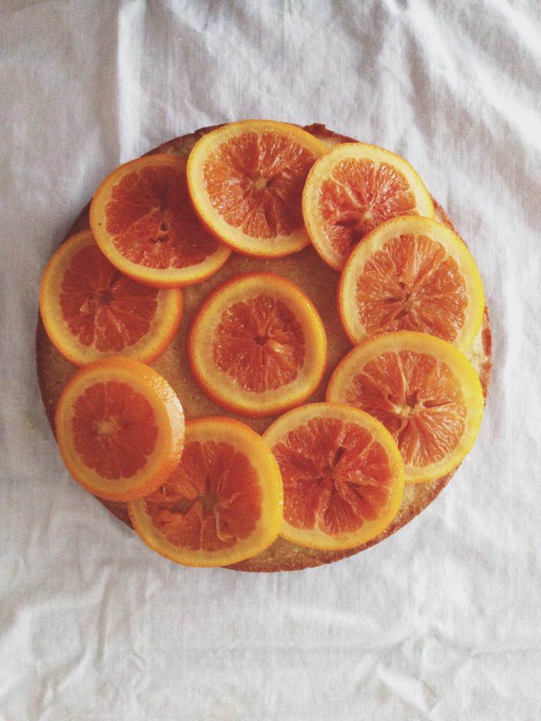 Top down Cara Cara cake