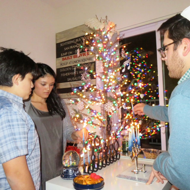 Hanukkah candle lighting