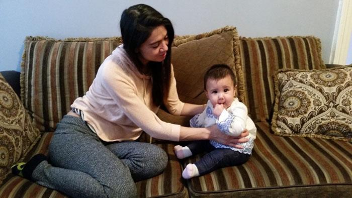 Liz and baby Helen