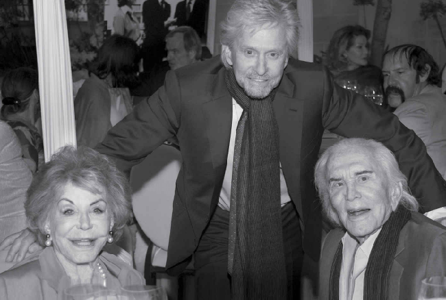 Kirk and Anne Douglas with son, Michael Douglas