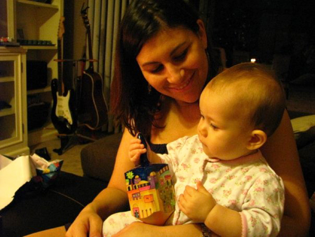 Elizabeth's daughter's first Hanukkah