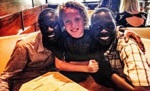 Sammy with Jewish camp counselors from Uganda