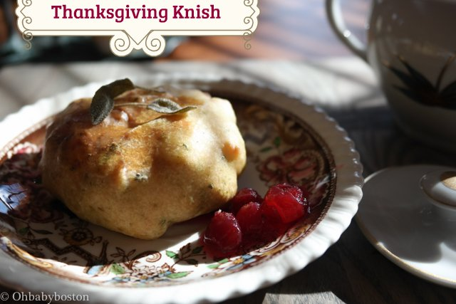 Thanksgiving feast in a knish.