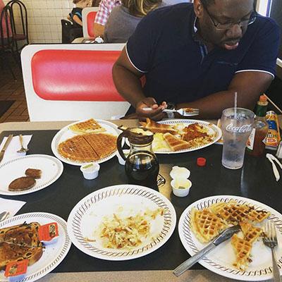 Femi at a Waffle House