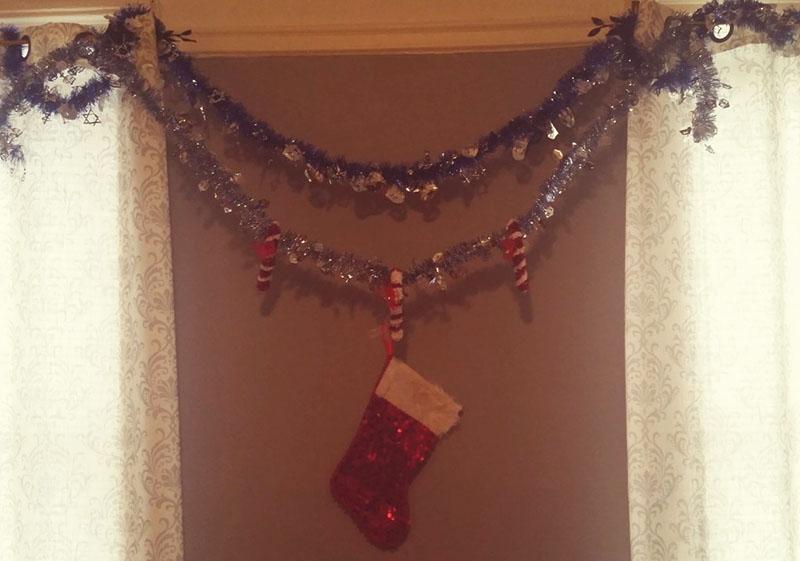 Hanukkah/Christmas tinsel