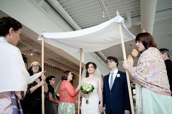 Ari officiating a wedding