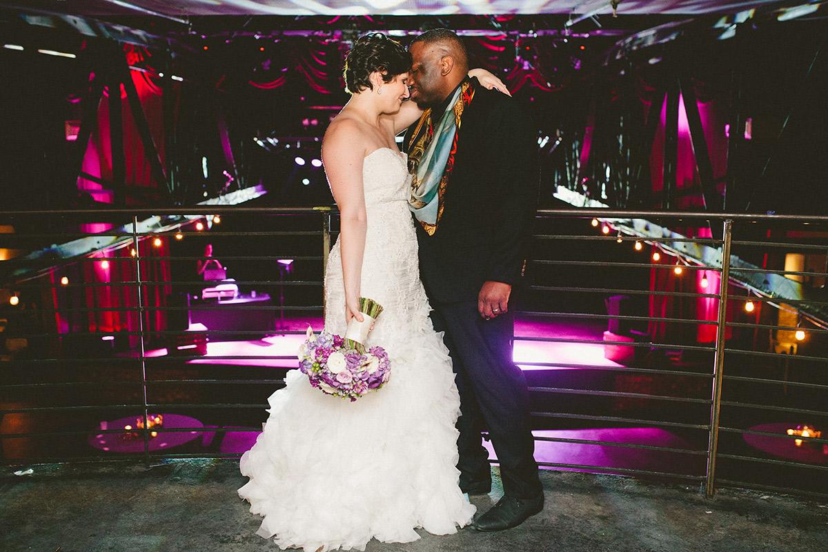 Becky & Femi on their wedding day