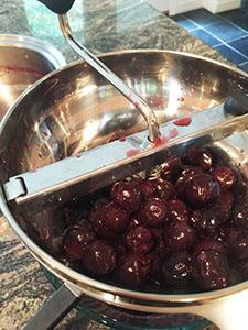 Combine cherries