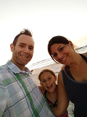 Vocke family at the beach