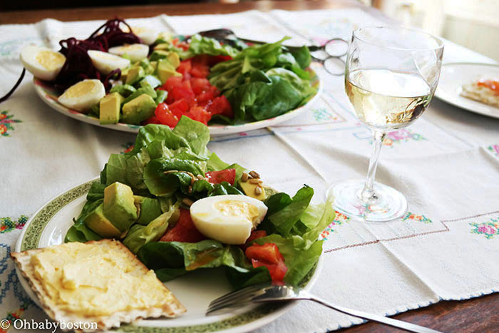 Cobb salad for Passover