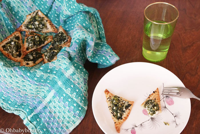 Delicious spanikopita for Purim