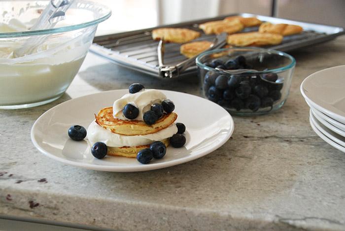 Hanukkah ricotta pancakes