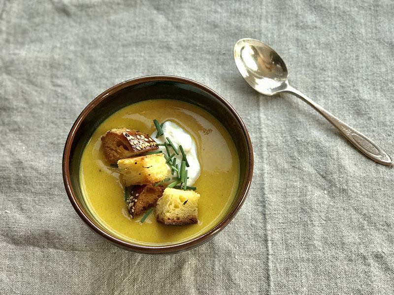 Sukkot kabocha soup