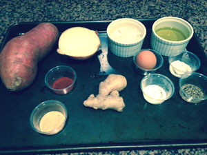 Latke ingredients