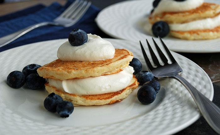 Ricotta pancakes for Hanukkah