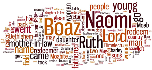 the words that make up the Book of Ruth