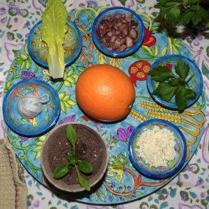 Interfaith-Humanist-Vegan Seder Plate