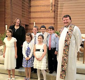Sam's first communion