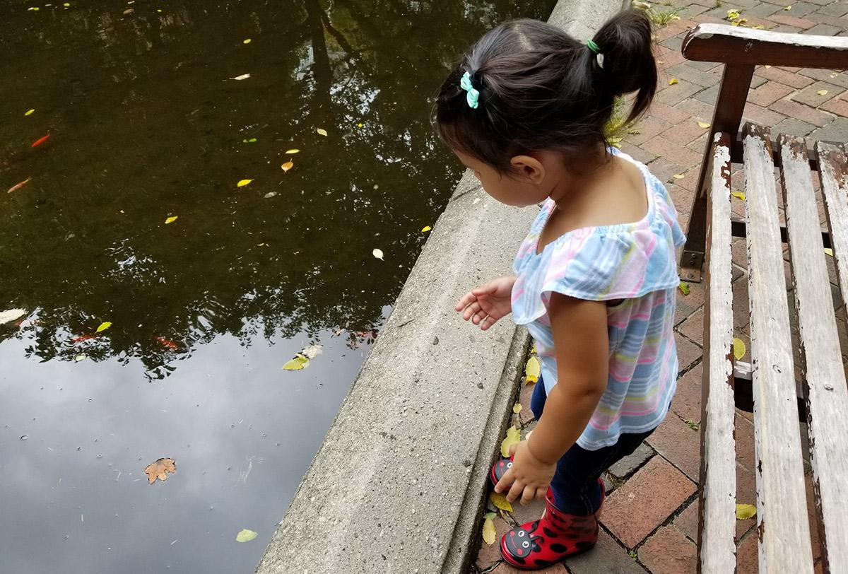 Helen at a pond