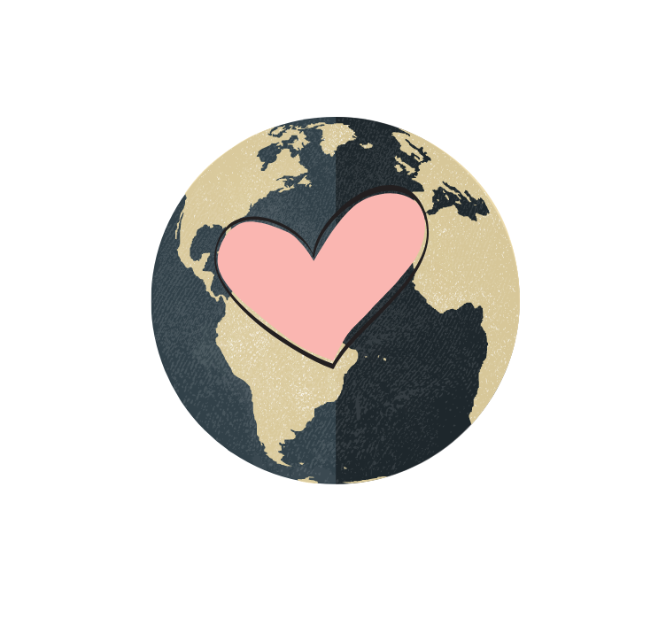 earth with heart