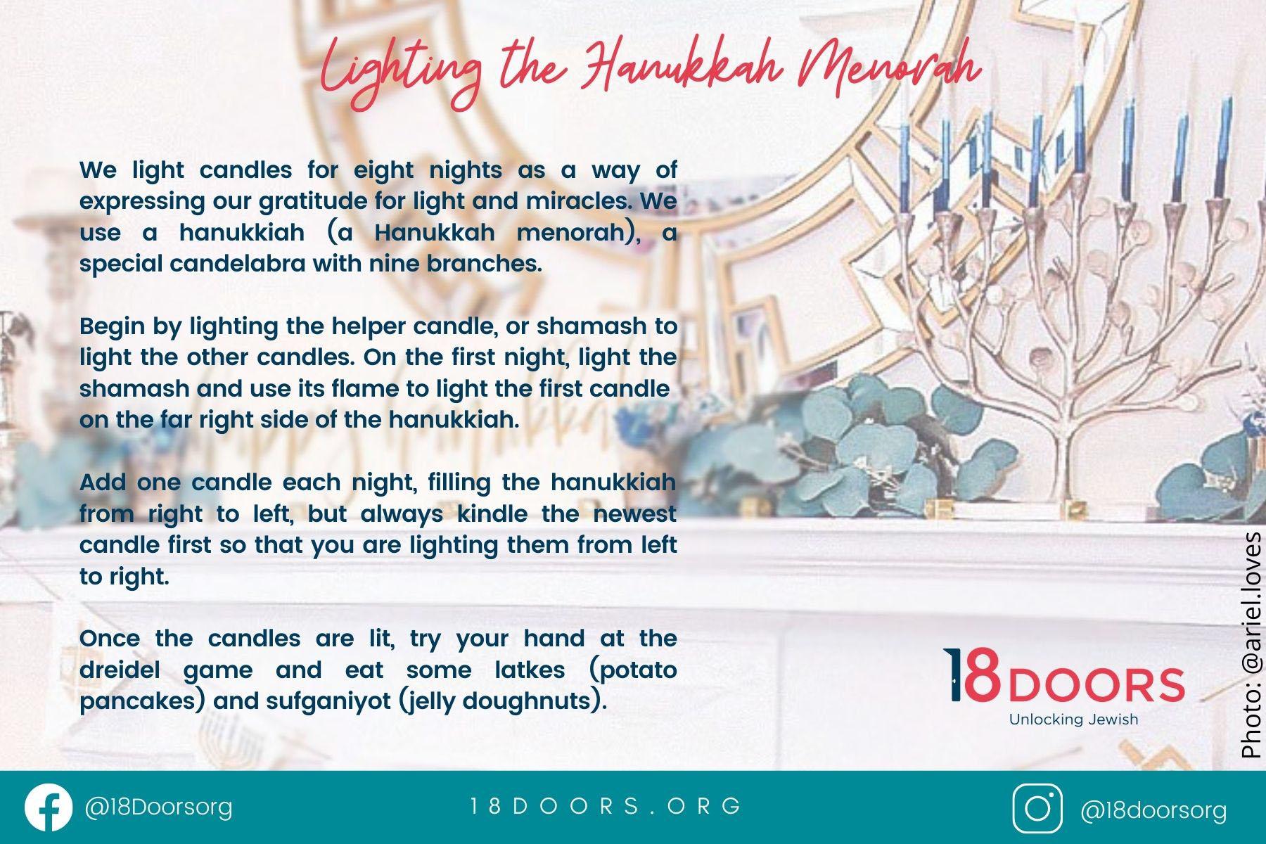 Menorah lighting blessings