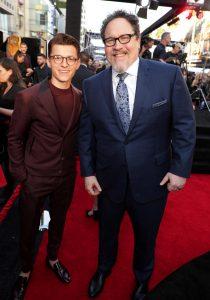 Tom Holland and Jon Favreau
