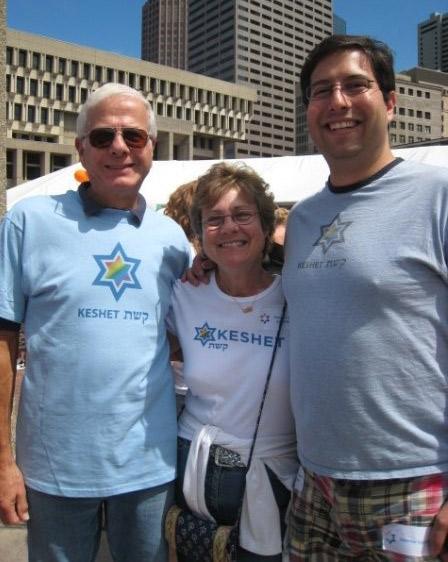 David with his parents