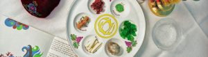 Seder Plate on Table